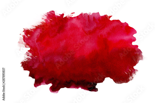 Obraz Abstract watercolor red textured background on a white isolated background - fototapety do salonu