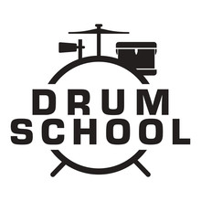 Drum Lesson School Simple Logo Icon Vector