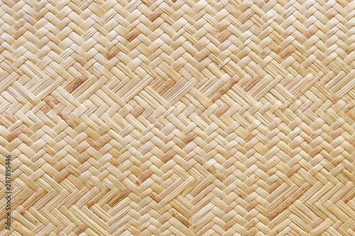 Obraz Traditional bamboo weaving texture background in Thailand - fototapety do salonu