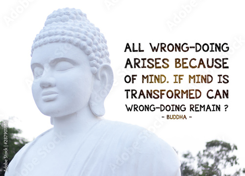 All wrong-doing arises because of mind Wallpaper Mural