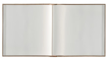 Open Book White Paper Pages Photo Album. Sketchbook