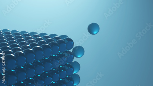 molecular structure dissolution, abstract science background Fototapeta