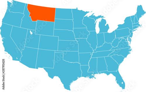 Obraz na płótnie map of Montana