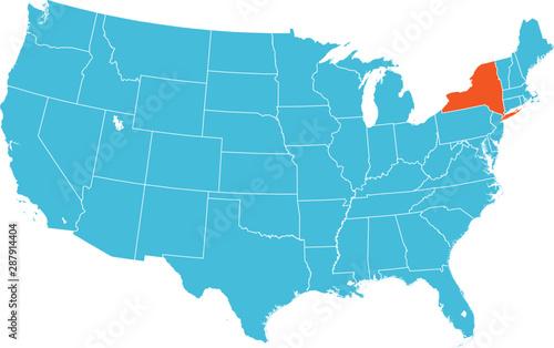 Fototapeta map of New York obraz