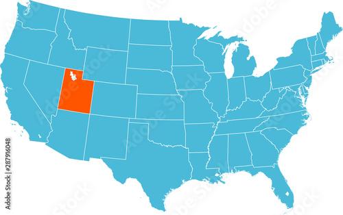 Fotografía map of Utah