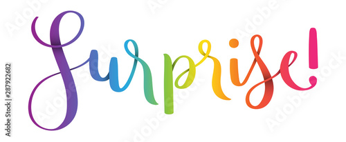 Fotografija  SUSPRISE! vector brush calligraphy banner
