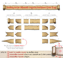 Papyrus Tittle Scroll Tags -  Building Kit