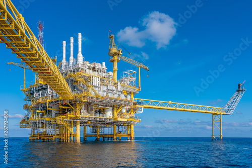 Oil and gas production and operation at offshore where produced raw gas and crude oil for sent to onshore refinery and petroleum industry.