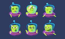 Alien Character In Ufo Set, Fu...