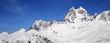 Leinwanddruck Bild Mount Ushba in winter at sunny day