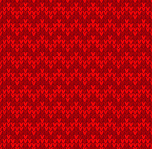 Winter Christmas X-mas Knit Seamless Background Knitted Pattern. Flat Design.