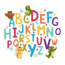 Vector Alphabet For Children. ...
