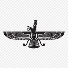 Symbol Of Zoroastrianism Isola...
