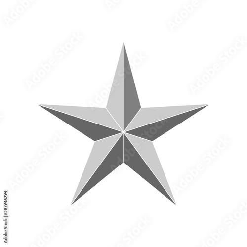 Valokuva 3d beveled star