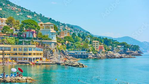 Photo sur Toile Europe Méditérranéenne Ligurian seashore in Bogliasco near Genoa