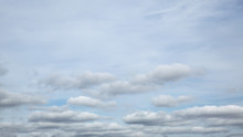 Panorama Of Autumn Cloudy Sky
