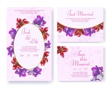 Greeting Or Wedding Invite Set...