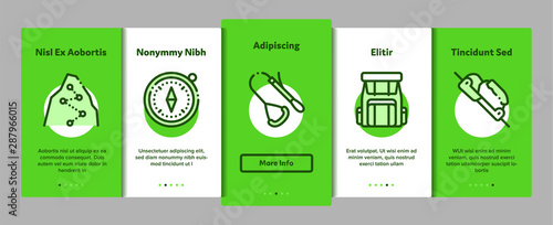 Alpinism Elements Vector Onboarding Mobile App Page Screen Wallpaper Mural