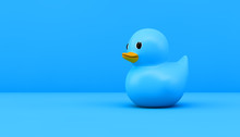 Blue Rubber Duck