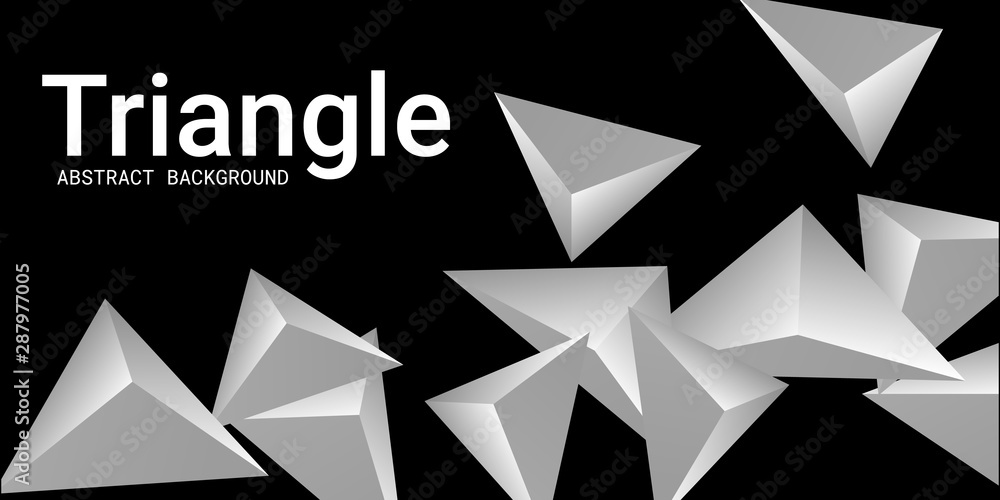 Fototapeta Triangle background. Abstract composition of triangular pyramids.