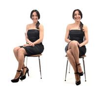Woman Sitting Cross-legged And...