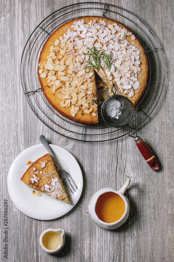 Fototapeta Gluten free almond cake