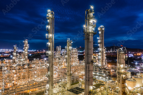 industrial area oil and gas LPG refinery plants and stores pipeline in Thailand