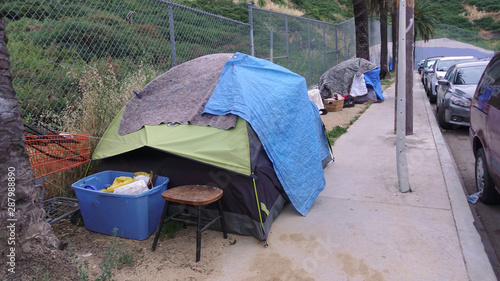 Los Angeles homeless camp Wallpaper Mural