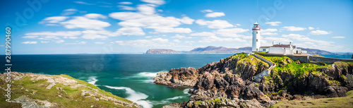 Lighthouse in Ireland Panorama Canvas Print