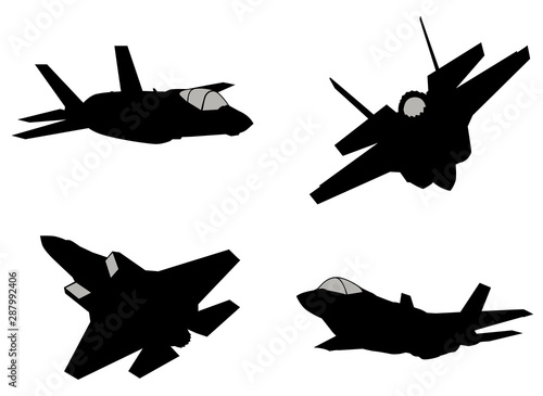 Vector fighters set Canvas Print
