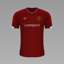 Realistic Soccer Shirt. Vector Illustration