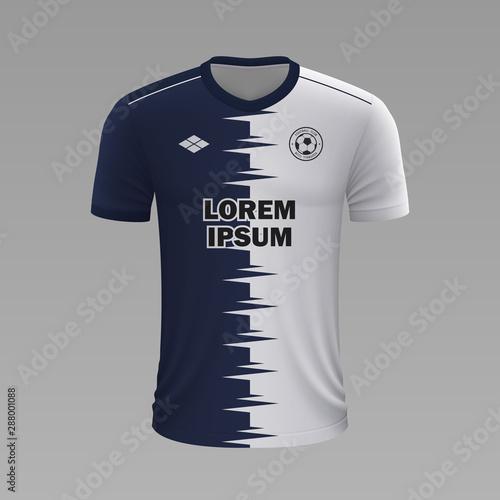 Fototapeta Realistic soccer shirt 2020