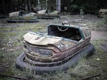 Abandoned Rusty Bumper Cars (a...