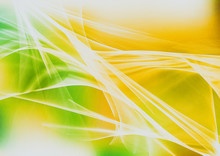 Orange White And Green Fractal Background Illustration