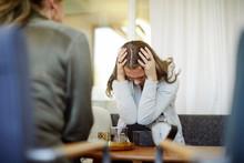 Displeased Female Patient Disc...