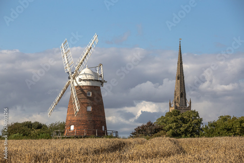 Canvas Print Thaxted Windmill Essex Stansted Flight Path