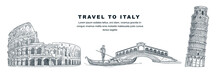 Travel To Italy Hand Drawn Des...