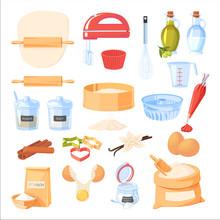 Baking Ingredients And Kitchen...