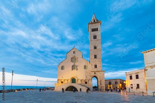 Obraz Italy, Apulia, Province of Barletta-Andria-Trani, Trani. San Nicola Pellegrino cathedral. - fototapety do salonu
