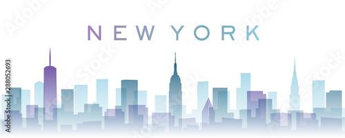 New York przezroczyste warstwy Skyline z gradientami