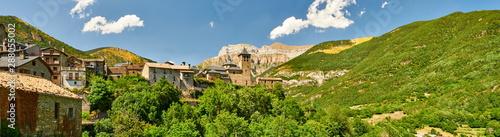 Obraz The town of Torla, at the entrance of Ordesa-Monte Perdido National park - fototapety do salonu