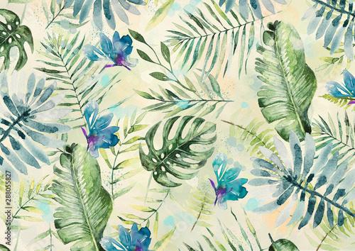 egzotyczne-liscie-i-kwiaty