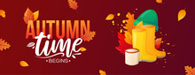 Welcome Autumn Fall Season Banner.