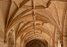Detail Of The Magnificent Carvings In The Cloisters In The Monastery Of Jeronimos In Belem