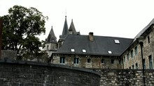 The 9th Century Castle On The Outhe River At Small Belgian Town Durbuy.
