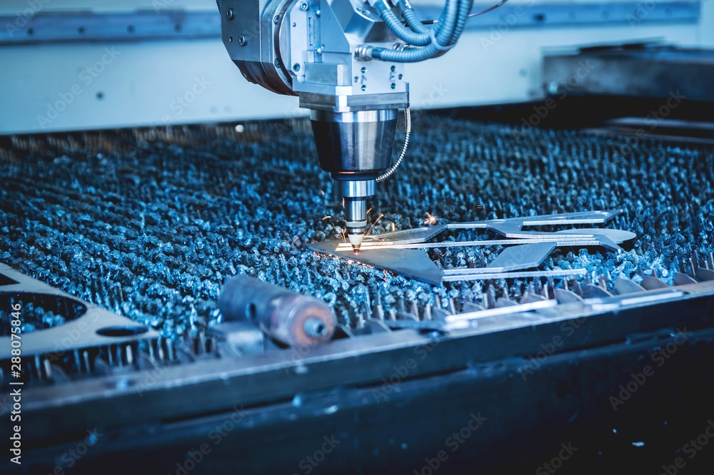 Fototapeta laser machine