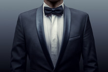 Business Man In A Suit And Bow...