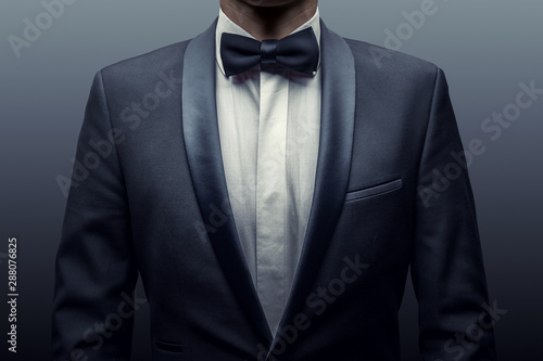 Photo Business man in a suit and bow-tie