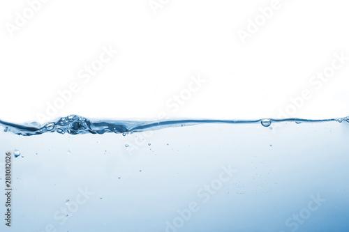 Montage in der Fensternische Wasser Water splash or water wave with bubbles of air on the background.