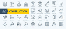 Outline Web Icons Set - Constr...